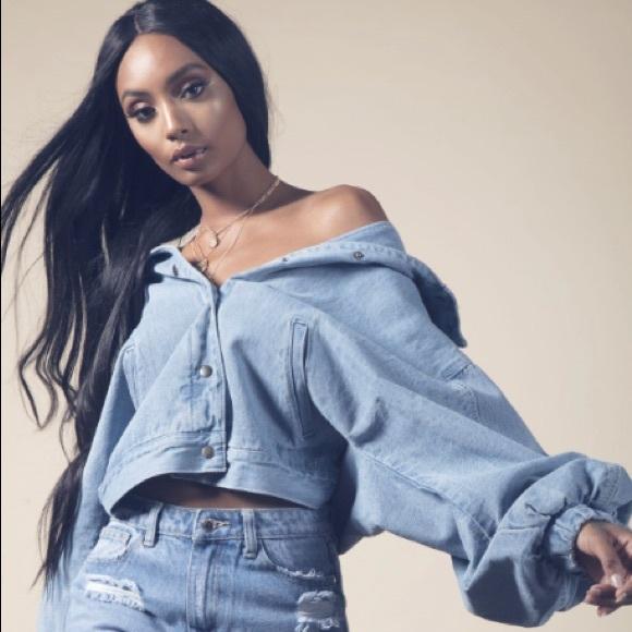 Fashion Nova Trixie Girl Denim Jacket Nwt